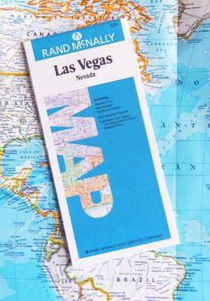 1991 Map of Las Vegas Nevada Surrounding Area  Rand by BunnysLuck, $3.99