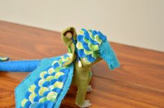 Felt Dragon and Fairy Doll  felt dragon toy by FifteenMagpieLane