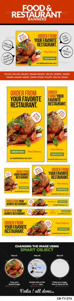 Food & Restaurant Banners Template PSD | Buy and Download: http://graphicriver.net/item/food-restaurant/8469415?WT.ac=category_thumb&WT.z_author=doto&ref=ksioks