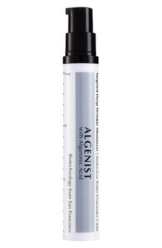 Algenist Targeted Deep Wrinkle Minimizer Claims A concentrated gel that primes the skin, smoothing the appearance of fine lines and wrinkles. Upon application, alguronic acid filling spheres swell on contact with the skin, instantly concealing the appearance of lines and imperfections using this exclusive technology. The skin is primed for improved makeup application and a … … Continue reading →