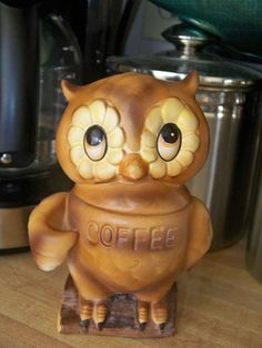 Vintage Owl Coffee Canister Made In Japan By MMVintageSweets, $18.00