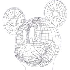 Mickey mouse 3d illusion vector file for CNC - 3bee-studio