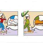 Yanlış ve Doğruları ile İnşaatta İş Güvenliği | İnşaat Gündemi Safety Cartoon, Safety Posters, Atvs, Health And Safety, Signs, Comics, Fictional Characters, Shop Signs, Cartoons