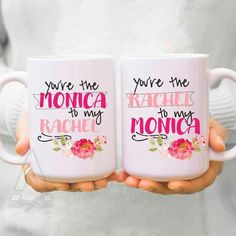 "christmas gifts for best friends ""you are the monica to my rachel"" friends tv show, f.r.i.e.n.d.s., tv show mug, best friend birthday MU120"