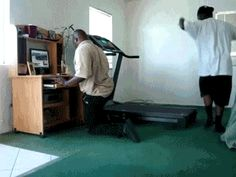 Still the Best Medicine.....Dimwit Follies: How NOT to mount a Treadmill!  How NOT to mount a Treadmill!.....or how dimwits try to complicate a simple task...