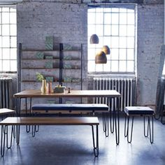 Soho at Heal's Brunel Dining Table by Rob Scarlett | Rectangular Tables | Dining Tables | Furniture | Heal's