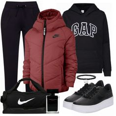 Gap Outfits Women, Gap Women, Clothes For Women, Sweatshirt Outfit, Nike Sportswear, Business Outfit, Pullover, Style Inspiration, Inspired