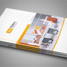 catalog, white, yellow, bi-fold, brochure, cover, real estate, construction, architecture, engineering, gray, background textures, multiple textures, rectangle, minimalistic, simple brochure design inspiration