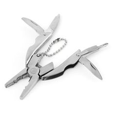 Mini Folding Muilti-functional Plier Clamp Keychain tool.