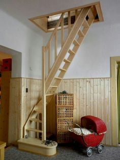 56 clever loft stair for tiny house ideas House Stairs Clever House Ideas Loft Stair Tiny Renovation Design, Attic Renovation, Basement Renovations, Home Remodeling, Attic Remodel, House Renovations, Tiny House Loft, Attic House, Tiny Loft