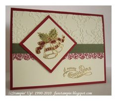 I took advantage of the recent Stampin' Up! special and purchased the lovely vintage set Bells and Boughs .  I'm so glad I did; it makes suc...