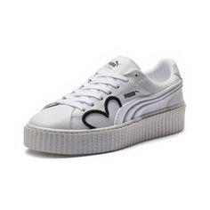 3a692d2594ee Puma Creeper Clara Lionel Puma White Puma Black Puma Team Gold Womens Lace  Up Sneakers