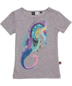 Molo hippe t-shirt met flashy zeepaardje. molo.nl.emilea.be