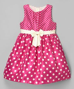 Take a look at this Berry Polka Dot Shantung Dress - Infant & Toddler today!