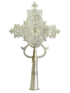 Ethiopian Processional Cross – Lalibella Cross - Made of Nickel