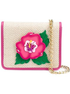 YAZBUKEY Embroidered Flower Patch Flap Closure Clutch Bag. #yazbukey #bags #shoulder bags #clutch #cotton #leather #hand bags #