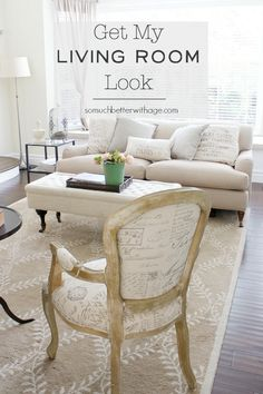 Get My Living Room Look | somuchbetterwithage.com