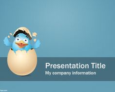 Free Twitter PowerPoint template background with egg