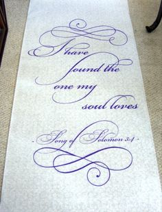 Aisle runner and if you need a wedding minister call me at (310) 882-5039 https://OfficiantGuy.com