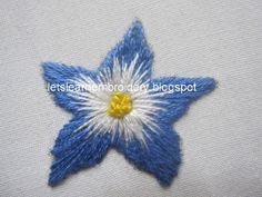 Let's learn embroidery: Long and short flower. Short Tutorial. jwt