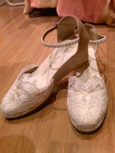 Zapatillas de la novia, para bailar toda la noche sin dolor de pies.