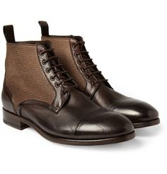 Paul Smith Shoes & Accessories Julius Canvas and Leather Boots