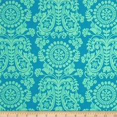 Global Bazaar Chimera Blue. Designed by Josephine Kimberling for Blend Fabrics