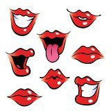Cartoon female mouths with glossy lips. Collection of female mouths with glossy lips. Lips Cartoon, Cartoon Mouths, Cartoon Art, Cartoon Makeup, Cartoon Drawings Of People, Disney Drawings, Cliparts Free, Mouth Drawing, Drawing Faces