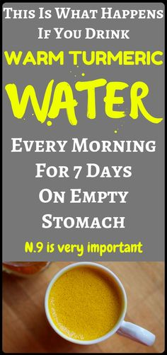 What Happens If You Drink Warm Turmeric Water Every Morning For 7 Days On Empty Stomach - Gotta check this Health Diet, Health And Nutrition, Health And Wellness, Health Fitness, Healthy Facts, Healthy Tips, Healthy Food, Natural Health Remedies, Herbal Remedies