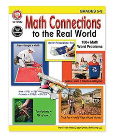 Grades 5-8 Math Connections to the Real World Workbook