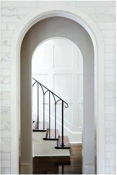 Iron Railing simple classic stair design