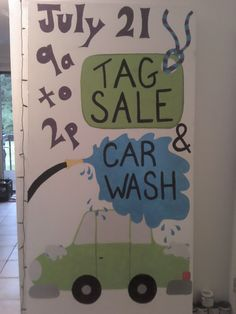 Car wash sign i made for my coworker whos church was having a tag sale car wash sign solutioingenieria Gallery