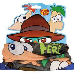 Pañuelo/braga cuello Phineas y Ferb  Precio 6.90€