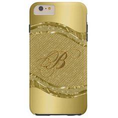 Gold Metallic Look With Diamonds Pattern Tough iPhone 6 Plus Case By artOnWear