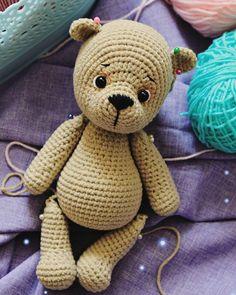 Crochet ideas that you'll love Crochet Teddy Bear Pattern, Crochet Rabbit, Crochet Patterns Amigurumi, Crochet Dolls, Amigurumi Tutorial, Love Crochet, Crochet Baby, Knitting Bear, Knitting Toys