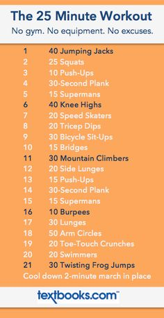 Tried: The 25 Minute Workout // 21 Moves in 25 Minutes // No equipment needed. A good well rounded workout involving core and cardio. Hotel Workout, Travel Workout, Vacation Workout, Workout List, Workout Ideas, Fitness Plan, Health Fitness, Health Club, Dorm Room Workout