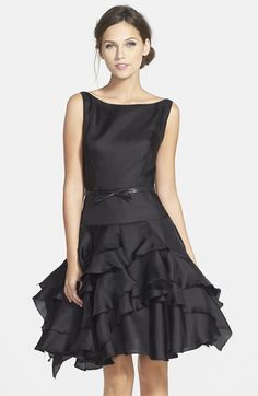 Milly Organza Tiered Fit & Flare Dress available at #Nordstrom - very classic with a little fun