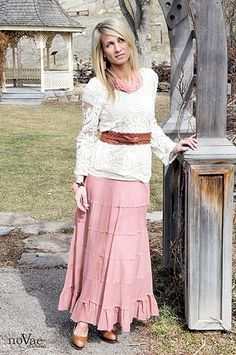 5-Tiered Maxi Skirt @nova Hinegardner Ebersole Clothing #noVae clothing #modest clothing