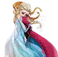 Scène émouvante entre Elsa et Anna