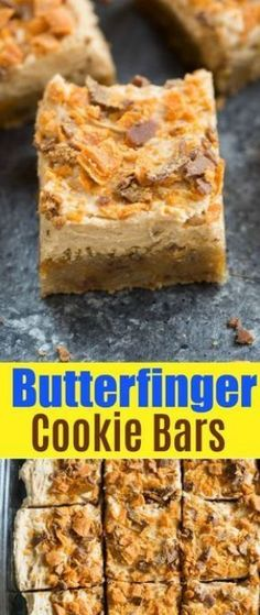 Butterfinger cookie bars - hot from my oven vanilla cake recipes, best cake recipes, Baking Recipes, Cookie Recipes, Dessert Recipes, Bar Recipes, Grilling Recipes, Dinner Recipes, Just Desserts, Delicious Desserts, Yummy Food
