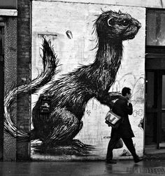 """Linda Wisdom street photography - Art by ROA"""