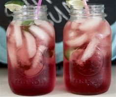 Homemade cherry limeade    For every 8 ounces of 7-up add 2 Tablespoons of grenadine and limes to taste.