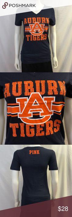 212376b3cef Description  S PINK Victoria s Secret Collegiate Collection UA Tigers Shirt  with rhinestone studs NWT.