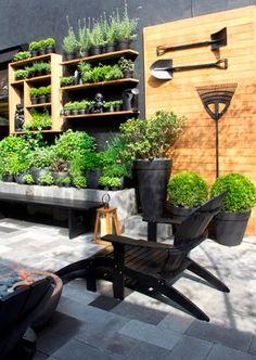 Terrace Garden, Garden Spaces, Herb Garden, Garden Tools, Vegetable Garden, Outdoor Shelves, Garden Organization, Office Entrance, Little Gardens