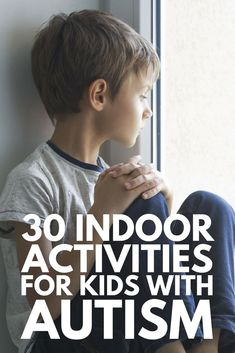 Kids Health - 30 indoor activities for kids with autism to develop social, communication, and fine motor skills while also releasing energy and teaching self-regulation! Activities For Autistic Children, Is My Child Autistic, Indoor Activities For Kids, Children With Autism, Preschool Autism Activities, Counseling Activities, Sensory Activities, Autism Learning, Autism Education