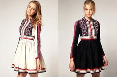 Embroidered Shirt Dress by ASOS. Would like to get one but too bad they are all sold out. Wedding Dress Shopping, Wedding Dresses, Mexican Embroidered Dress, Embroidery Dress, Ethnic Fashion, Short Dresses, Asos, Boho, Tommy Bahama