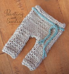 How to Knit Newborn Pants
