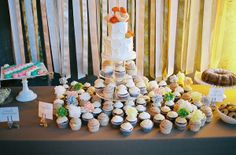 Love the options on this dessert table!Industrial Chic Chicago Wedding