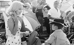 Marilyn on the set of The Misfits
