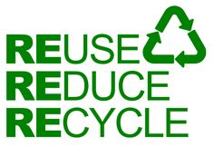 Remember the three R's- Reduce, Reuse, Recycle.